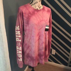 PINK Victoria's Secret hand bleach tie dye